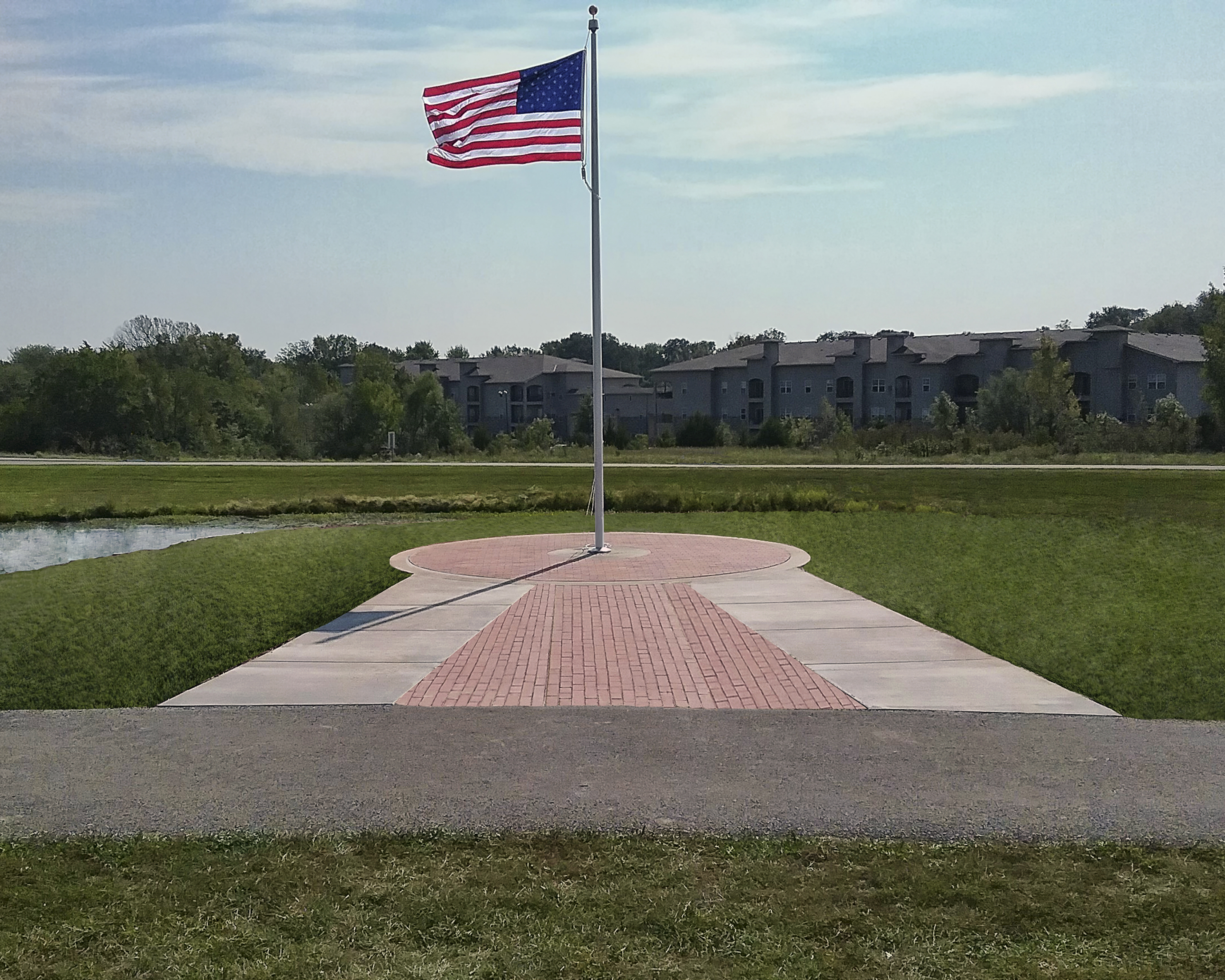 Phase One of the Legacy Plaza Veterans Tribute